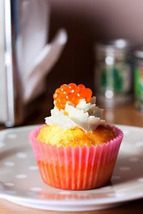Cupcake saumon fume